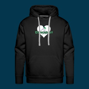 Dancer At Heart (White Heart) - Men's Premium Hoodie
