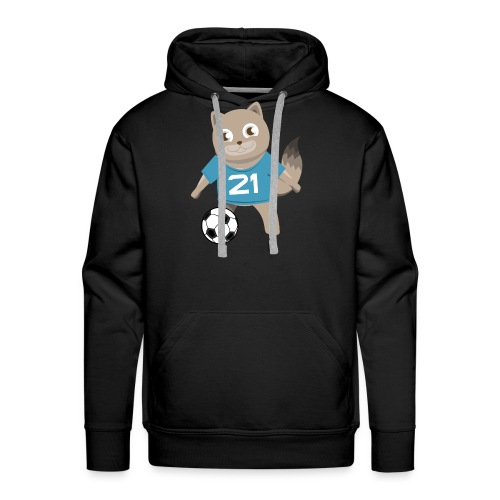 Kitty Soccer - Football - Cat with Ball - Men's Premium Hoodie