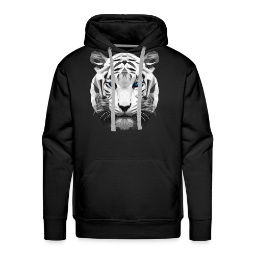Tiger low poly - Men's Premium Hoodie