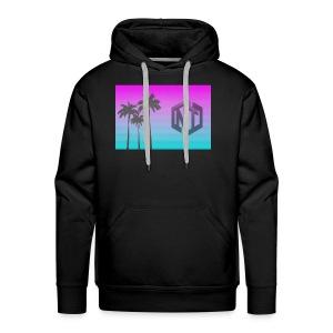 NayTendo Modern Palm Tree Logo Design - Men's Premium Hoodie