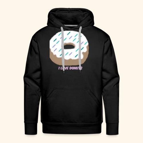 I Love Donuts - Men's Premium Hoodie