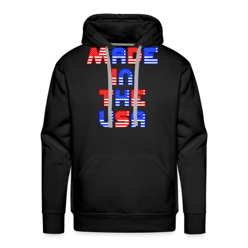 Made In the USA Patriotic United States - Men's Premium Hoodie