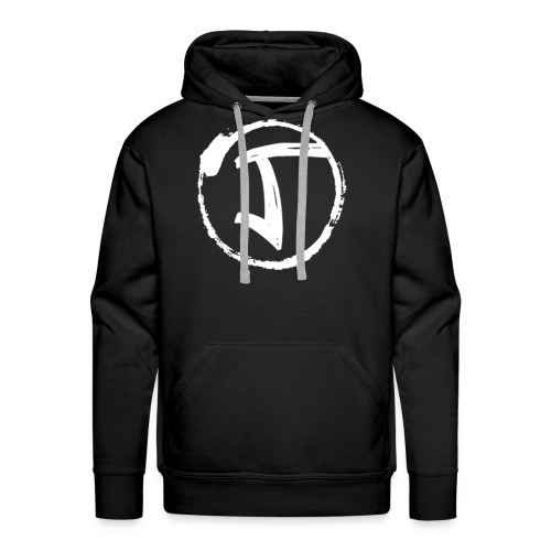 JKrew Simple White logo - Men's Premium Hoodie