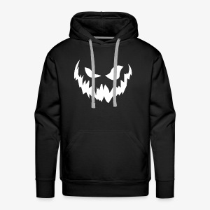 Scary face (white) - Men's Premium Hoodie