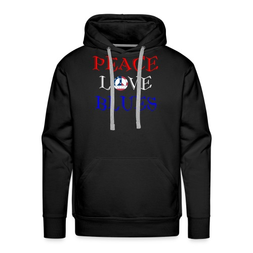 Peace, Love and Blues - Men's Premium Hoodie