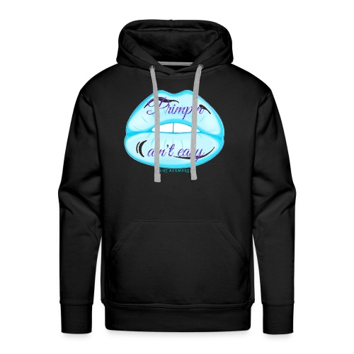 Blue Glitter Pimpin Ain't Easy - Men's Premium Hoodie