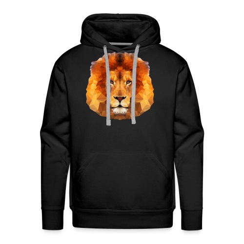 Low Poly Lion Face - Men's Premium Hoodie