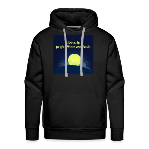 Tennis i Love it to the moon and back - Men's Premium Hoodie