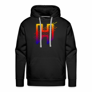 Hazaard Neon Logo - Men's Premium Hoodie