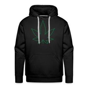 Marijuana Peace Love California Love 420 Freedom - Men's Premium Hoodie