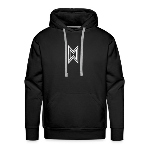 TheMWarrior White Logo Black T-Shirt - Men's Premium Hoodie