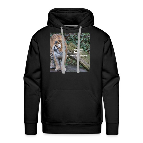 Forever Great tiger design - Men's Premium Hoodie