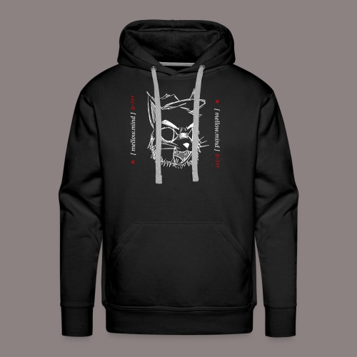 Mellow Mind (White on Black) - Men's Premium Hoodie