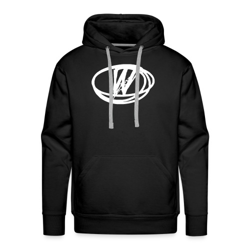 wow design white - Men's Premium Hoodie