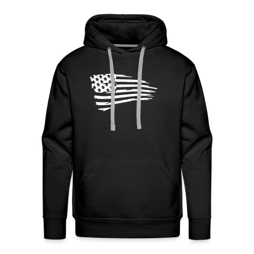 USFlagWhite - Men's Premium Hoodie
