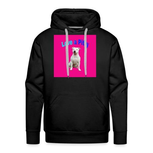 Pink Pit Bull - Men's Premium Hoodie