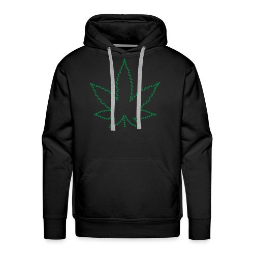 Marijuana Peace Love California Love 420 Freedom - Men's Premium Hoodie