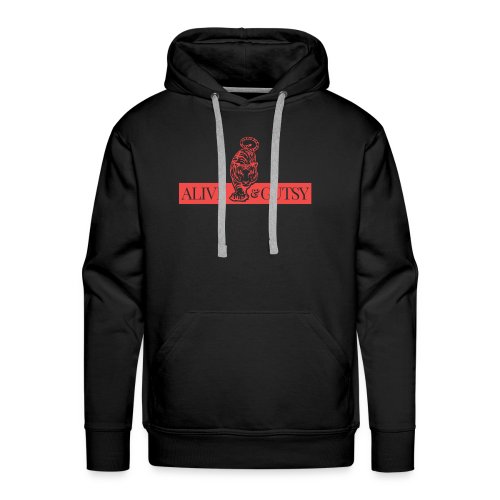 Alive & Gutsy in Black - Men's Premium Hoodie