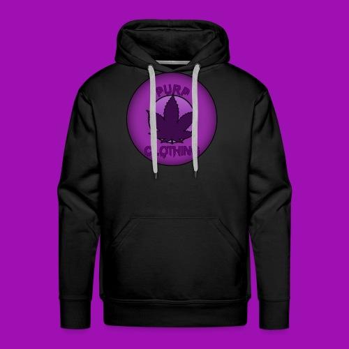 Purp Leaf Logo - Men's Premium Hoodie