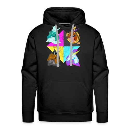 four elemental dragons - Men's Premium Hoodie