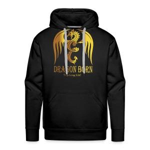 Dragon Born Logo Style 1 Gold - Men's Premium Hoodie