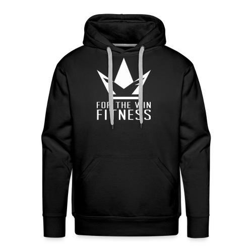 For the Win Fitness - White - Men's Premium Hoodie