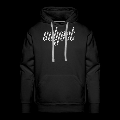 Standard Subject Logo - Men's Premium Hoodie