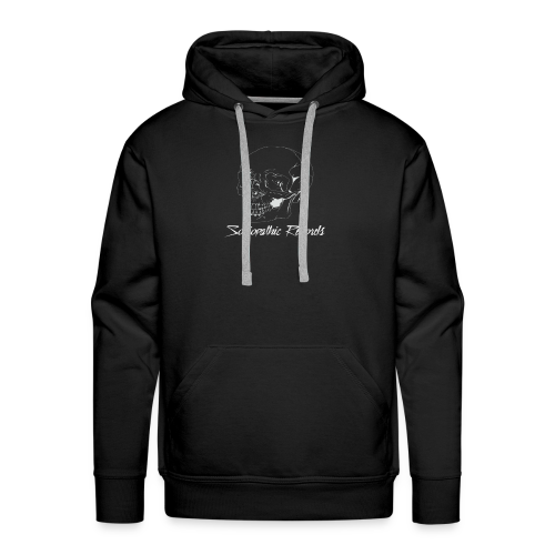White Skull With Sociopathic Label - Men's Premium Hoodie
