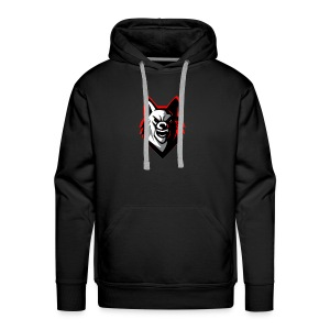 wolf logo by supreme_gamer7 - Men's Premium Hoodie
