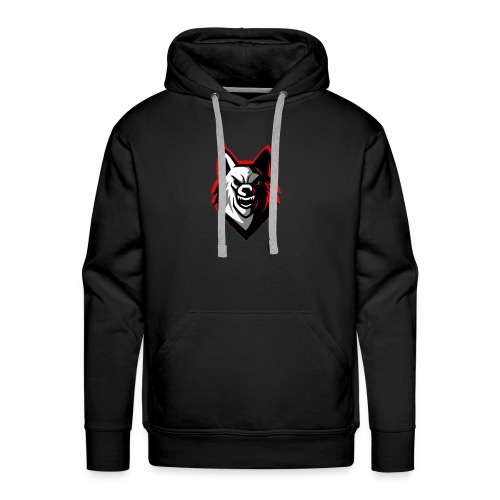 wolf logo by supreme_gamer7 - Men's Premium Hoodie