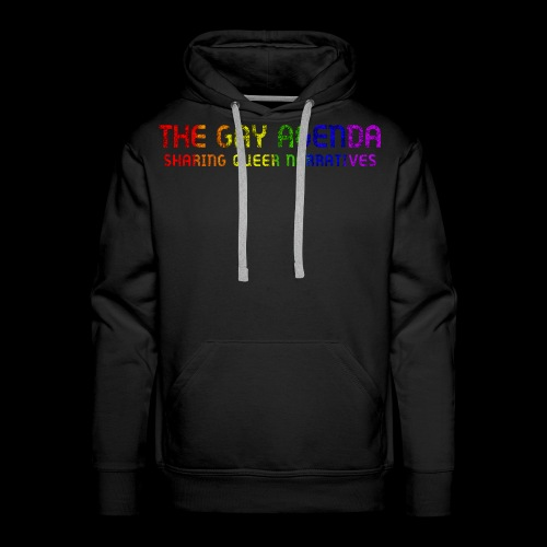 The Gay Agenda - Rainbow Paint Logo - Men's Premium Hoodie