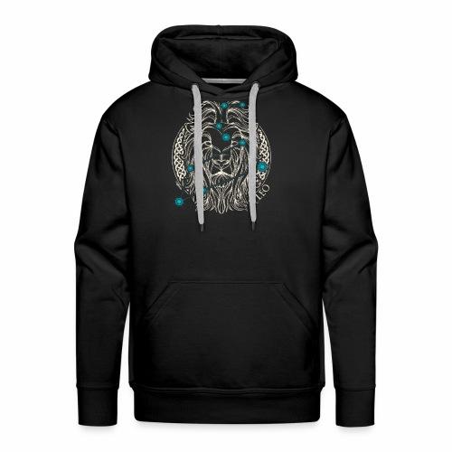 LEO Zodiac Constellation with Celtic Ring - Men's Premium Hoodie