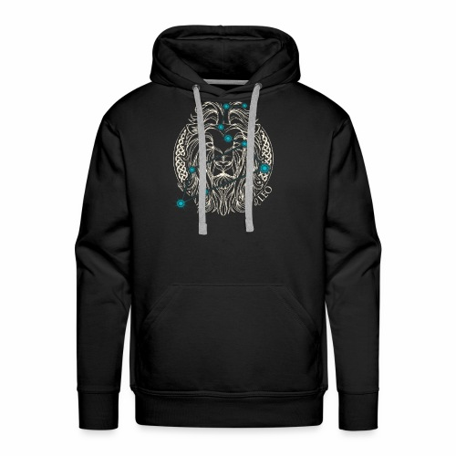 LEO Zodiac Constellation with Celtic Ring - Men's Premium Hoodie