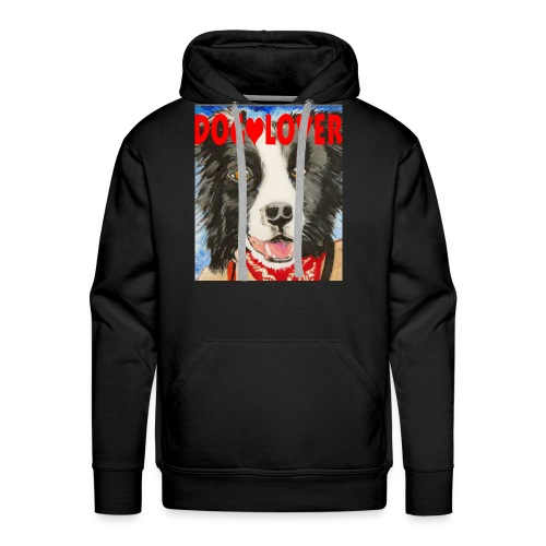 dog-lover border collie - Men's Premium Hoodie