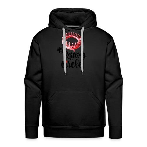 My Knitting Circle Black Letters - Men's Premium Hoodie