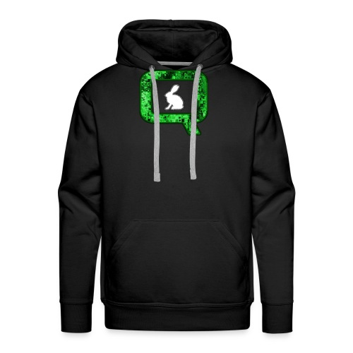 Q QANON Green Follow The White Rabbit - Men's Premium Hoodie