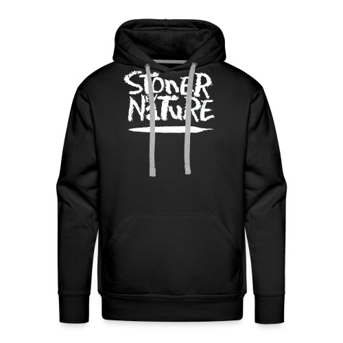 Stoner By Nature Joint white - Men's Premium Hoodie