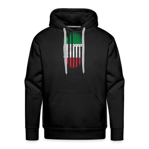 Italian American Flag Italy and USA Design - Men's Premium Hoodie