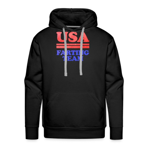 Funny 4th of July USA Farting Independence Day - Men's Premium Hoodie
