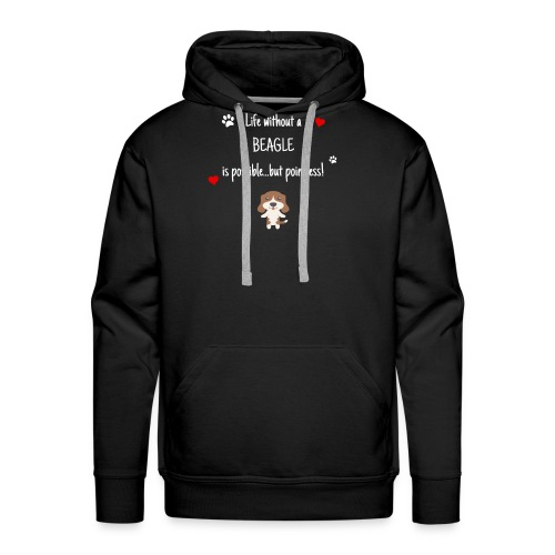 Life Without A Beagle Funny Cute Dog Gift Idea - Men's Premium Hoodie
