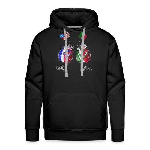 Mexico and USA flags - Men's Premium Hoodie