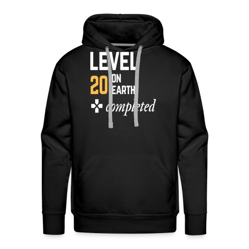 20th birthday gift level 20 on earth completed - Men's Premium Hoodie