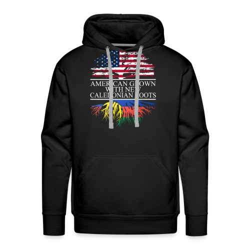 american grown with new caledonian roots original - Men's Premium Hoodie