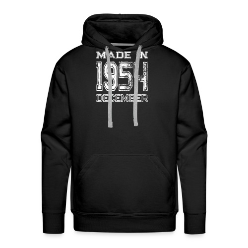 Birthday Celebration Made In December 1954 Birth Year - Men's Premium Hoodie