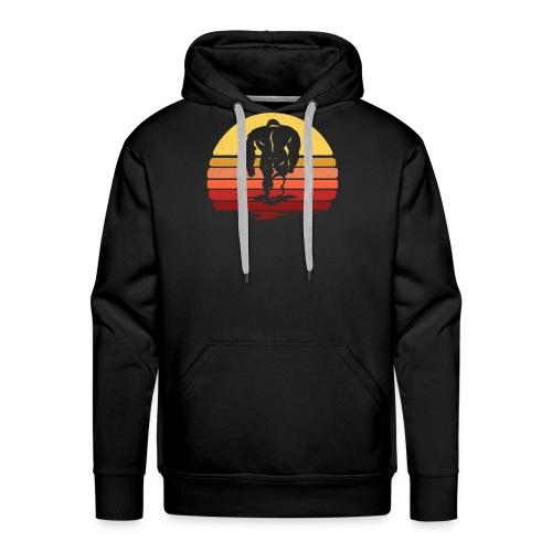 Yeti Sasquatch Bigfoot Sunset - Men's Premium Hoodie