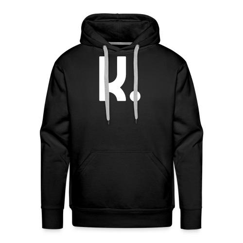 K Dot Period Simple Letter K Design English - Men's Premium Hoodie