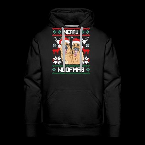 Merry Woofmas German Shepherd Couple - Men's Premium Hoodie