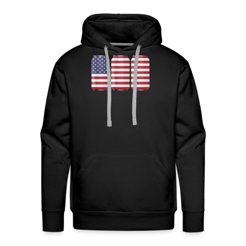 beer can USA Flag - Men's Premium Hoodie