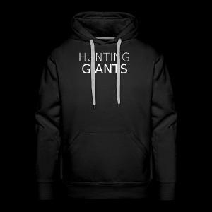 Hunting Giants Logo in White - Men's Premium Hoodie