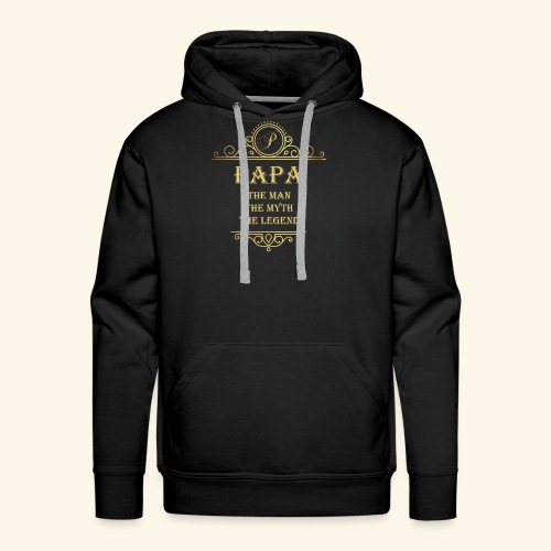 Papa the man the myth the legend - 2 - Men's Premium Hoodie